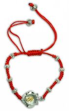 Red string Kabbalah bracelet with magnetic spinning lucky Hamsa Judaica charm