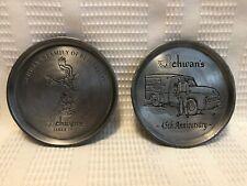 Schwan's Family Business Logo/AD & 45th Anniversary Col. Metal Coaster Set (X2)