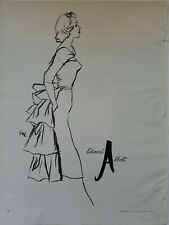 1955 women's Edward Abbott dress Eric Carl Erickson fashion illustration art ad
