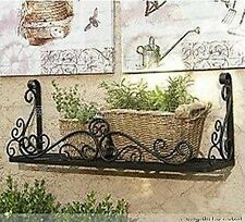 Hand Iron French Style Wall Flower Pot Plant Holder Rack Window Box BLK002L