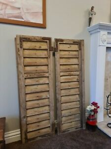 VINTAGE WOODEN SHUTTERS , European window shutters