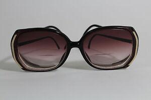Vintage Luxotica Designer Fashion Burgundy Classic Eyeglasses Rose Fade Lenses