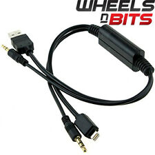 iPod iPhone 5 5C 6 iPad adaptor usb & aux fits BMW 1,3,5,6,7, X5 X6 & Mini
