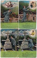 Thora - A set of 4 'Bamforth & Co. Vintage Postcards