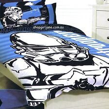 Star Wars - Large Storm Trooper - Double/US Full Bed Quilt Doona Duvet Cover Set