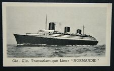SS Normandie  CGT Liner    1930's Vintage Photo Card  # VGC