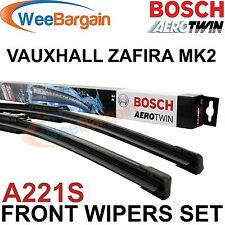 VAUXHALL Zafira B mk2 2005-ORIGINALE BOSCH a221s AEROTWIN SPAZZOLE ANTERIORE SET