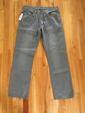 Polo Ralph Lauren Pants Mens Chino Straight Fit 5 Pocket Dungarees Logo New GRAY
