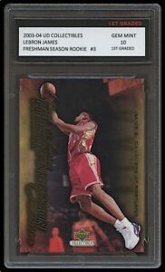LEBRON JAMES 2003-04 UPPER DECK #3 1ST GRADED 10 ROOKIE CARD LAKERS/CAVALIERS