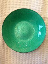 Vintage Sterling J. Tostrup Norway Green Enamel Decorative Dish Weight 132.6 g