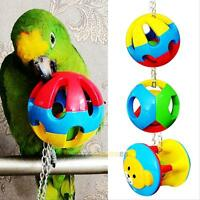 Pet Bird Bites Ball Toy Parrot Chew Swing Cage Hanging Toys Cockatiel Parakeet