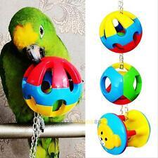 Parrot Mascota Pájaro mordeduras Swing Chew Cadena Bola Juguetes Jaula Colgante cacatúa Periquito