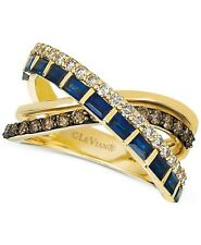 Exquisite Blue Criss Cross Infinite Ring White Gold Wedding Promise Jewelry