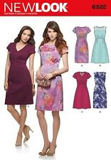 NEW LOOK SEWING PATTERN MISSES' DRESS WITH BODICE & NECK VARIATIONS 8-18 6322