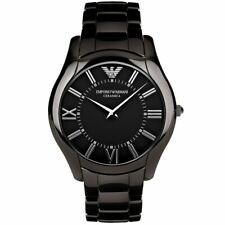 Emporio Armani Men's AR1440 CeramicSlim Black Dial Watch Wristwatches