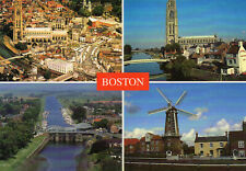 Postcard Lincolnshire  Boston multi view unposted Dennis