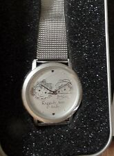 NEW 2000 Raggedy Ann & Andy Watch with Stainless steel Band,Tin Box from Japan
