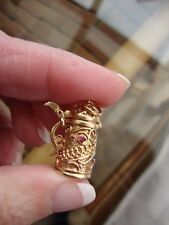 14k YELLOW GOLD GERMAN BEER STEIN Pitcher Charm Pendant 6.6 GRAMS  don't opens.