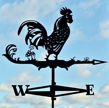 EXTRA LARGE Rooster Weathervane with roof mount FREE SHIPPING