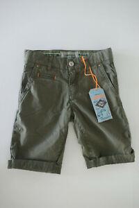 Vingino Jungen Hose Jeans Short Robi Army Moss Olive Gr. 128 Neu mit Etikett