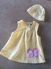 Bon Bebe 3-6 Month Dress Yellow with hat