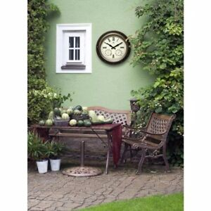Infinity Instruments The Forecaster 16 in. x 16 in. Round Wall Clock