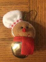 Christmas Gingerbread Bell Ornament