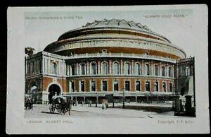 Horniman's Tea Advertising, Unposted Postcard, Early 1900s, London Albert Hall,