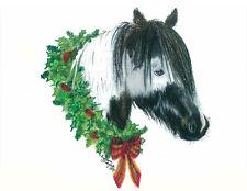 """""""Noel"""" Gypsy Vanner, Gypsy Cob, Gypsy Horse Pinto Holiday cards"""