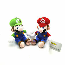 "Lot 2 New Super Mario Bros 6"" Mario Luigi Plush Toy Doll^MX1987"