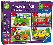 MY FIRST PUZZLE TRAVEL FAR 4 IN A BOX 2/3/4/5 PIECE RAVENSBURGER PUZZLE