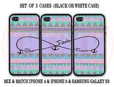 Purple Mint Aztec BFF Best Friends Case - 3 Cases for iPhone 6S 6 5S 5C 5 S6 S5