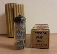 6AJ8/ ECH81 Triode Hepode Frequency Changer Valve/Tube by Cossor (New in Box)