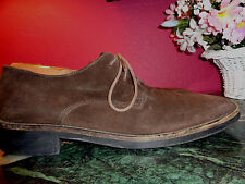 J. CREW dark brown suede oxfords 10.5M made in Italy in excellent condition