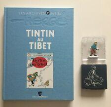 TINTIN ARCHIVES - TINTIN AU TIBET + FIGURINE - HERGE - BD EO 2010 - MOULINSART