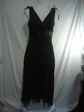 Mr K Ladies Vintage Dress in a Brown Stretch Fabric with Rear Bow Tie Size 10