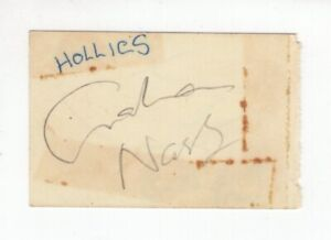 Graham Nash as a Member of The Hollies - Clipped Autograph