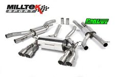 "Bmw M3 F80 milltek 2.76"" race cat back exhaust system 4x titane GT90 tail pipe"