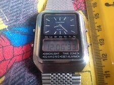 Citizen Cosmotron Gamma Digital Analogue Watch With Strap from 1979 EST CAL 4330