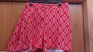 "Nice NWT Crown & Ivy Curvy Womens Size 20 W Red Shorts Caroline 7"" Inseam $49.50"