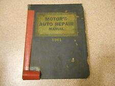 Old 1961 Large Book Motor's Auto Repair Manual Covers 1953-1961 Models 24 Ed 1st