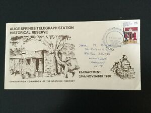 AUSTRALIA 1980 The Last Old Ghan Cover Maree to Alice Springs(F420)