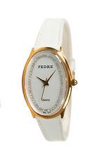 Pedre Women's Retro Gold-Tone Watch White Leather Strap 6163GX. New and unworn.