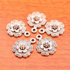 50 Pieces 15*12mm Charms Rose Flower Pendants Jewelry Making Bracelet 7023H