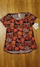 Lularoe Classic T, Size Small, NWT, orange, red and black