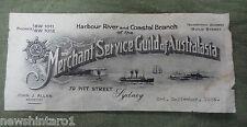 #D294. 1934 MERCHANT SERVICE GUILD OF AUSTRALIA PAPER PIECE