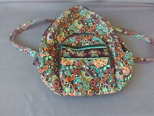 LARGE FLORAL DESIGN QUILTED 3 ZIPPERED SCHOOL BACKPACK
