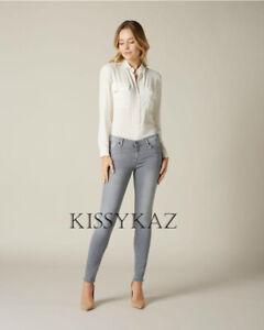 7 FOR ALL MANKIND Grey SLIM ILLUSION THE SKINNY Super Stretch Jeans 26 W BNWT