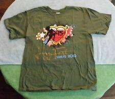"2010 Jazz Fest West San Dimas CA T-Shirt Size ""L"" Green Festival Isley Wilson"