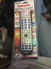 6 Way Trisonic Universal Remote Control: TV CD AUX CVR DVD Cable Satellite, NEW